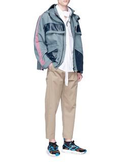 Valentino Detachable flap colourblock jacket