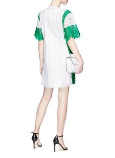 VALENTINO 拼色花卉蕾丝系带连衣裙