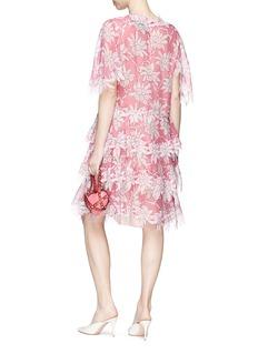 VALENTINO 花卉图案层叠真丝连衣裙