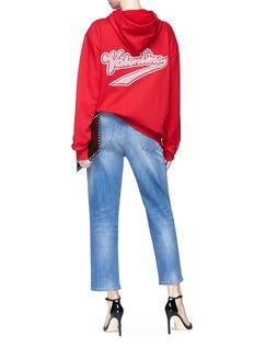 Valentino x Zandra Rhodes logo lipstick wave hoodie