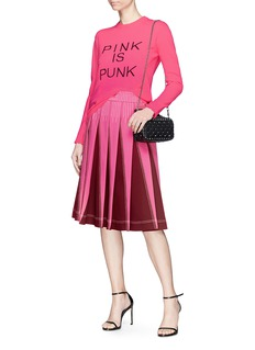 VALENTINO PINK IS PUNK标语初剪羊毛混羊绒针织衫