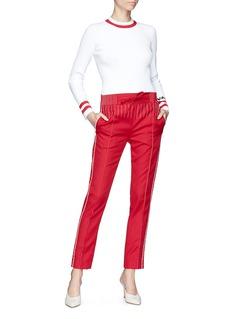 Valentino Contrast stitching jersey pants