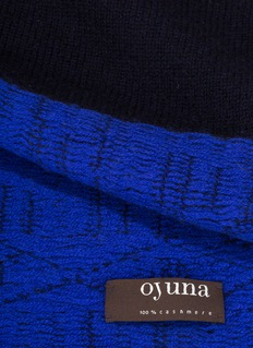 OYUNA ANDRO cashmere throw – Navy/Ultramarine