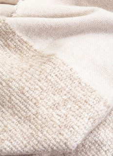 OYUNA KALO cashmere-wool throw – Beige