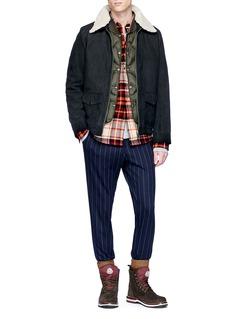 Scotch & Soda Check plaid flannel shirt