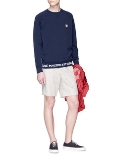 Maison Kitsuné Fox head appliqué sweatshirt