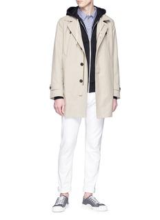 Maison Kitsuné Fox appliqué zip hoodie