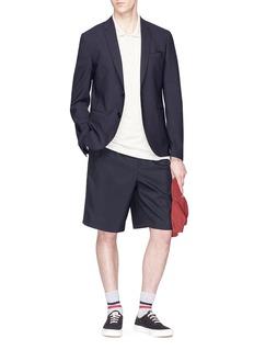 MAISON KITSUNÉ 品牌标志徽章纯棉polo衫