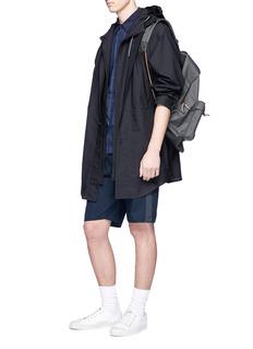 nanamica Windowpane check panel COOLMAX® shirt