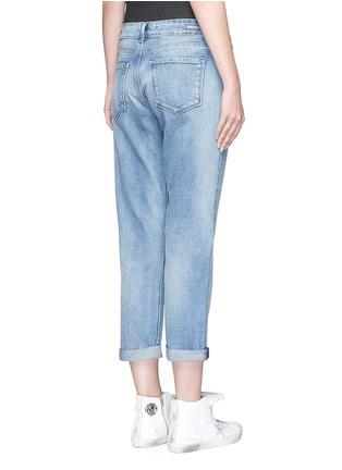 Back View - Click To Enlarge - Denham - 'Monroe' acid wash boyfriend jeans