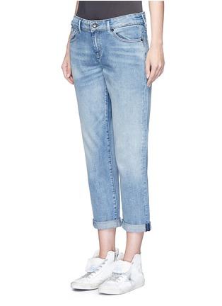 Front View - Click To Enlarge - Denham - 'Monroe' acid wash boyfriend jeans
