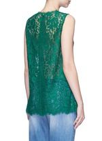 Embellished guipure lace sleeveless top
