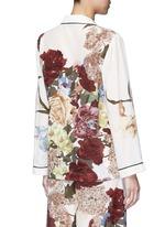 Floral print silk pyjama shirt