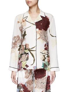ValentinoFloral print silk pyjama shirt