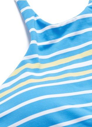 Detail View - Click To Enlarge - Vitamin A - 'Cozumel' high neck stripe bikini top