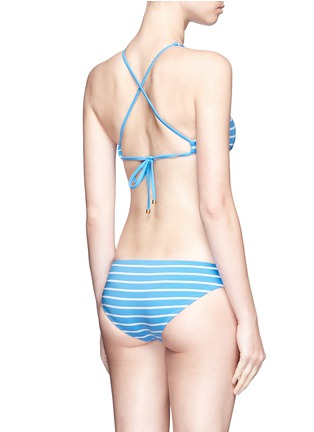 Back View - Click To Enlarge - Vitamin A - 'Cozumel' high neck stripe bikini top