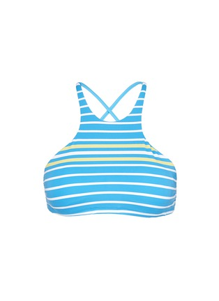 Main View - Click To Enlarge - Vitamin A - 'Cozumel' high neck stripe bikini top