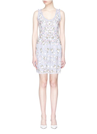 Main View - Click To Enlarge - Needle & Thread - 'Prism Ditsy' floral embroidered dress