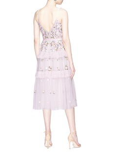 Needle & Thread 'Prism Ditsy' floral embroidered tulle midi dress