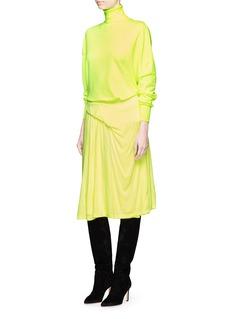 BalenciagaAsymmetric ruched jersey skirt