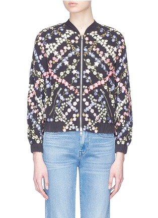 Main View - Click To Enlarge - Needle & Thread - Floral embroidered bomber jacket