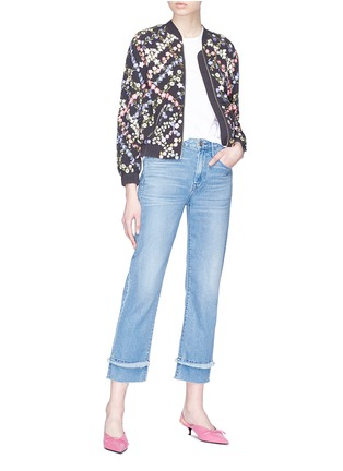 Figure View - Click To Enlarge - Needle & Thread - Floral embroidered bomber jacket