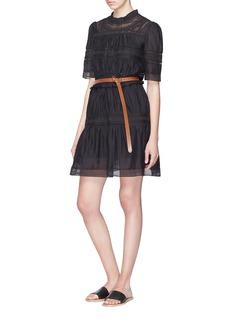 Isabel Marant Étoile 'Vicky' lace trim ruched panel dress