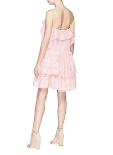 Needle & Thread Ruffle broderie anglaise dress