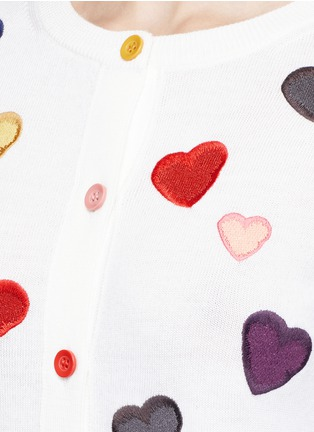 Detail View - Click To Enlarge - alice + olivia - Rainbow button hearts embroidery wool cardigan