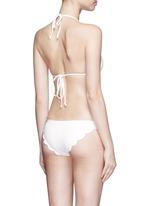 'Broadway' scalloped edge triangle bikini top