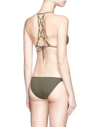 Back View - Click To Enlarge - ViX - 'Lucy Military' lattice back bead triangle bikini top