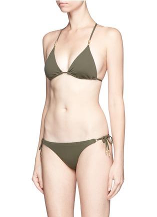Figure View - Click To Enlarge - ViX - 'Lucy Military' lattice back bead triangle bikini top