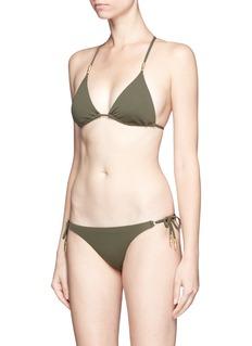ViX'Lucy Military' lattice back bead triangle bikini top