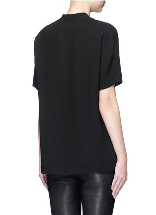 Back View - Click To Enlarge - Vince - Pintuck pleat V-neck blouse