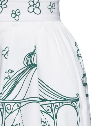 Detail View - Click To Enlarge - Dolce & Gabbana - Victorian Garden print twill shorts