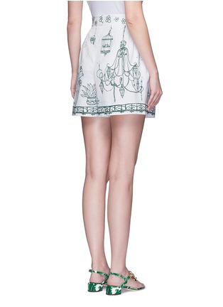 Back View - Click To Enlarge - Dolce & Gabbana - Victorian Garden print twill shorts