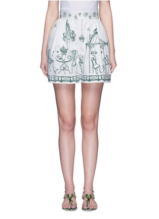 Main View - Click To Enlarge - Dolce & Gabbana - Victorian Garden print twill shorts