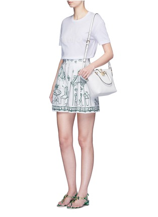 Figure View - Click To Enlarge - Dolce & Gabbana - Victorian Garden print twill shorts