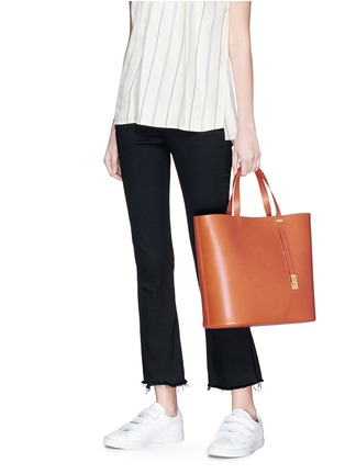 Figure View - Click To Enlarge - Sophie Hulme - 'Exchange East West' leather tote