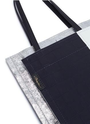 - 3.1 Phillip Lim - 'Accordion Shopper' colourblock double compartment leather tote