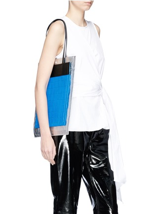 Front View - Click To Enlarge - 3.1 Phillip Lim - 'Accordion Shopper' colourblock double compartment leather tote