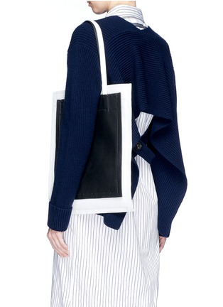 Front View - Click To Enlarge - 3.1 Phillip Lim - 'Accordion Shopper' colourblock triple compartment leather tote