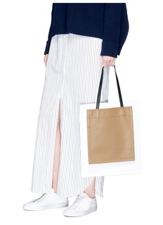 3.1 Phillip Lim 'Accordion Shopper' colourblock triple compartment leather tote