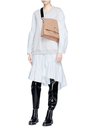 Front View - Click To Enlarge - 3.1 Phillip Lim - 'Alix' paperclip flap oversized leather crossbody bag
