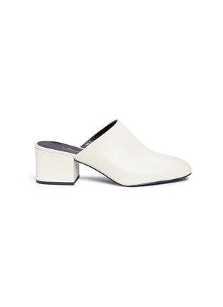 Main View - Click To Enlarge - 3.1 Phillip Lim - 'Cube' leather square toe mules