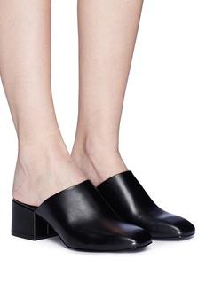 3.1 Phillip Lim 'Cube' leather square toe mules