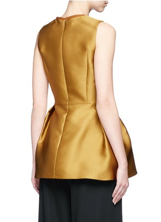 Back View - Click To Enlarge - Lanvin - Techno satin peplum top