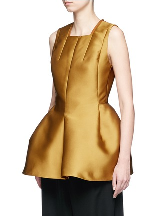 Front View - Click To Enlarge - Lanvin - Techno satin peplum top