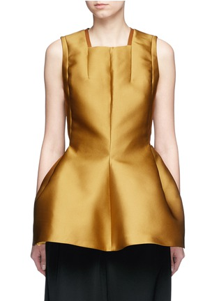 Main View - Click To Enlarge - Lanvin - Techno satin peplum top