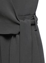 'Alvmie' wrap front crepe jumpsuit